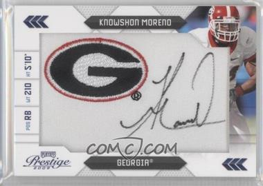 2009 Playoff Prestige NFL Draft Class College Logo Patch Signatures [Autographed] #14 - Knowshon Moreno /50