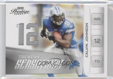 2009 Playoff Prestige Touchdown Sensations Materials Prime [Memorabilia] #15 - Calvin Johnson /50