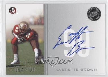 2009 Press Pass - Signings - Silver #PPS - EB - Everette Brown /199