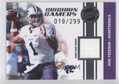 2009 Press Pass Gridiron Gamers Jerseys Silver #GG-JF - Josh Freeman /299