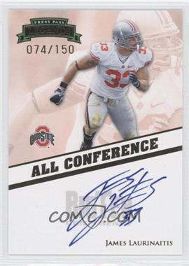 2009 Press Pass Legends - All Conference Autographs #AC-JL - James Laurinaitis /150