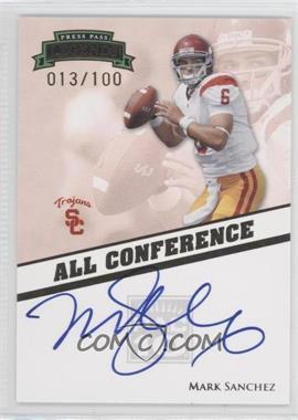 2009 Press Pass Legends - All Conference Autographs #AC-MS - Mark Sanchez /100