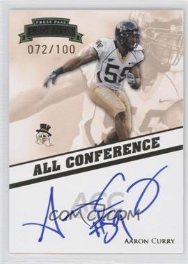2009 Press Pass Legends [???] #AC-2 - Aaron Curry /100