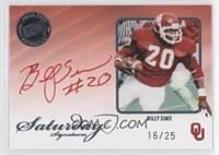 Billy Sims /25