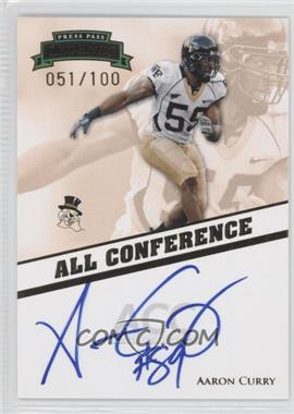 2009 Press Pass Legends All Conference Autographs #AC-AC2 - Aaron Curry /100
