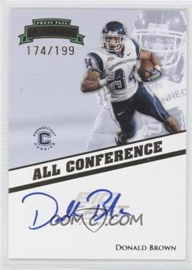 2009 Press Pass Legends All Conference Autographs #AC-DB - Donald Brown /199