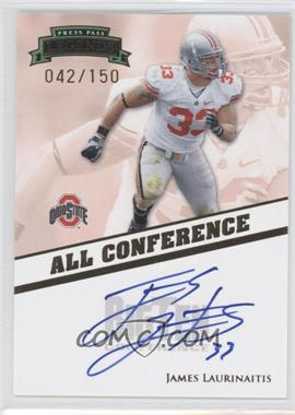 2009 Press Pass Legends All Conference Autographs #AC-JL - James Laurinaitis /150