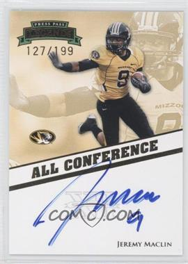 2009 Press Pass Legends All Conference Autographs #AC-JM - Jeremy Maclin /199