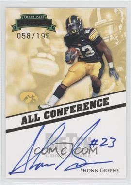 2009 Press Pass Legends All Conference Autographs #AC-SG - Shonn Greene /199