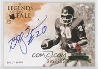 Billy Sims /355