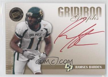 2009 Press Pass Signature Edition - Gridiron Graphs - Gold Red Ink #GG-RB - Ramses Barden