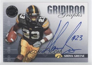 2009 Press Pass Signature Edition Gridiron Graphs Black #GG-SG - Shonn Greene