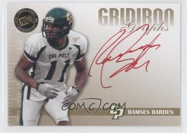 2009 Press Pass Signature Edition Gridiron Graphs Gold Red Ink #GG-RB - Ramses Barden