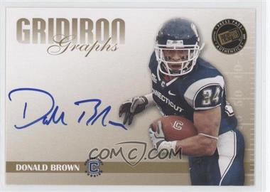 2009 Press Pass Signature Edition Gridiron Graphs Gold #GG-DB - Donald Brown