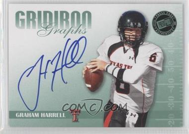 2009 Press Pass Signature Edition Gridiron Graphs Green #GG-GH - Graham Harrell