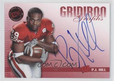 2009 Press Pass Signature Edition Gridiron Graphs Red #GG-2 - P.J. Hill /150