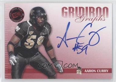 2009 Press Pass Signature Edition Gridiron Graphs Red #GG-AC - Aaron Curry /150