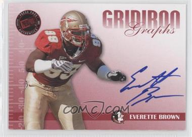 2009 Press Pass Signature Edition Gridiron Graphs Red #GG-EB - Everette Brown /150
