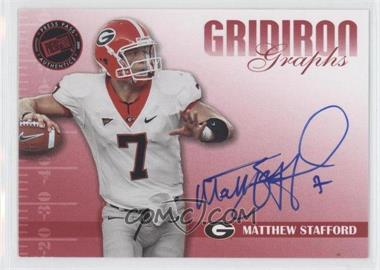 2009 Press Pass Signature Edition Gridiron Graphs Red #GG-MS - Matthew Stafford /127