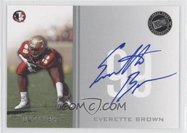 2009 Press Pass Signings Silver #PPS - EB - Everette Brown /199