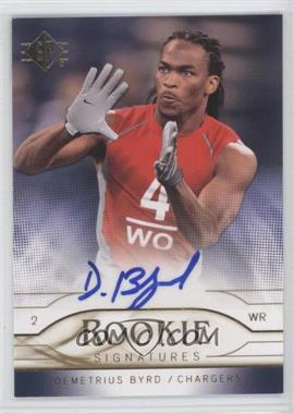 2009 SP - Rookie Signatures #RS-DB - Demetrius Byrd