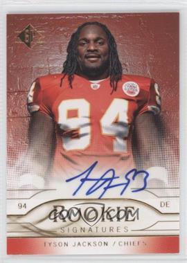 2009 SP - Rookie Signatures #RS-TJ - Tyson Jackson