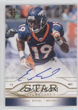 2009 SP - Star Signatures #SR-ER - Eddie Royal