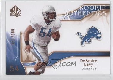 2009 SP Authentic - [Base] - Rookie Authentics Copper #238 - DeAndre Levy /150
