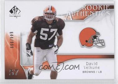 2009 SP Authentic - [Base] #227 - Rookie Authentics - David Veikune /999