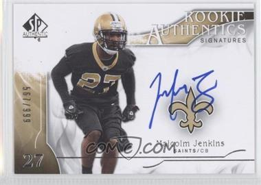 2009 SP Authentic - [Base] #313 - Rookie Authentics Signatures - Malcolm Jenkins /999