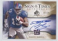 Ramses Barden /25