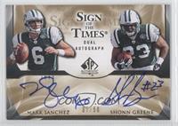 Mark Sanchez, Shonn Greene /50