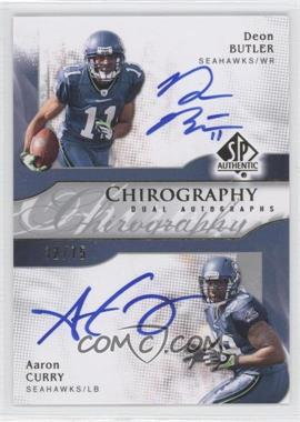 2009 SP Authentic Chirography Dual Autographs #CH2-BC - Aaron Curry, Deon Butler /75