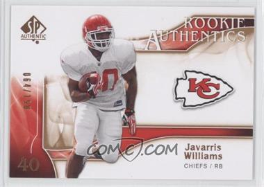2009 SP Authentic Rookie Authentics Copper #259 - Javarris Williams /150