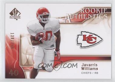 2009 SP Authentic Rookie Authentics Copper #259 - Javarris Williams /150