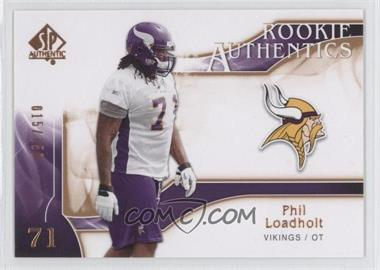 2009 SP Authentic Rookie Authentics Copper #264 - Phil Loadholt /150