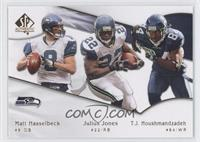Julius Jones, T.J. Houshmandzadeh, Matt Hasselbeck