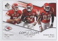 Matt Cassel, Larry Johnson, Dwayne Bowe
