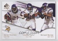 Adrian Peterson, Bernard Berrian, Chester Taylor
