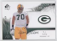 Rookie Authentics - T.J. Lang /999