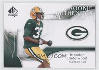 Rookie Authentics - Brandon Underwood /999