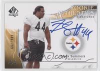Rookie Authentics Signatures - Frank Summers /799