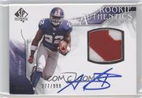 Rookie Authentics Auto Patch - Andre Brown /999