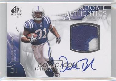 2009 SP Authentic #378 - Rookie Authentics Auto Patch - Donald Brown /499