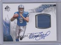 Rookie Authentics Auto Patch - Matthew Stafford /499