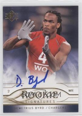 2009 SP Rookie Signatures #RS-DB - Demetrius Byrd