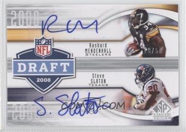 2009 SP Signature Edition Draft Years Signatures #DY-SM - Rashard Mendenhall, Steve Slaton /50