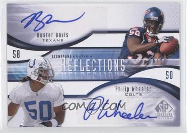 2009 SP Signature Edition Reflections Signatures #R-DW - Buster Davis, Philip Wheeler, Craig Davis