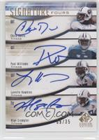 Chris Davis, Paul Williams, Lavelle Hawkins, Alge Crumpler