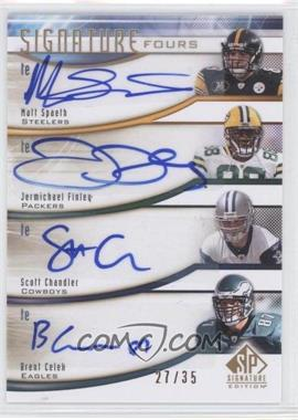 2009 SP Signature Edition Signature Fours #F-CSCF - Scott Chandler, Brent Celek /35